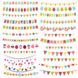 Colorful bunting and garlands - 48070549