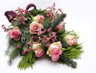 Blumen als Grabschmuck