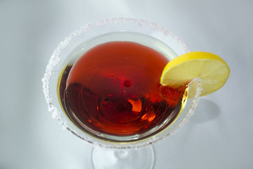 Cosmopolitan or red cocktail