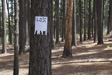 empty lost sign