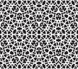 Black and white abstract background, seamless pattern with heart