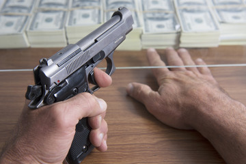 Bank hold-up or robbery