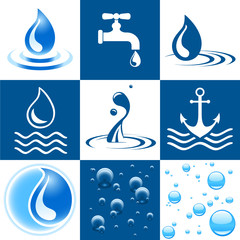 Icon Set - Wasser