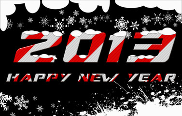 happy new year 2013 on snowflake