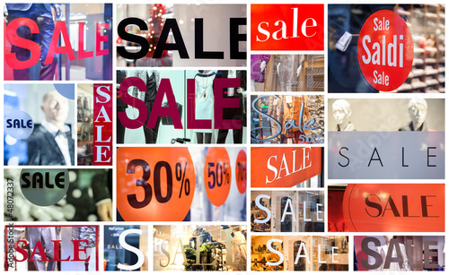 winter sale collage