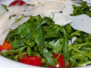 Italian salad with cherry tomatoes and rucola