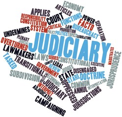 Word cloud for Judiciary