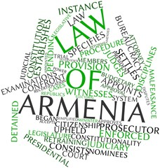 Word cloud for Law of Armenia