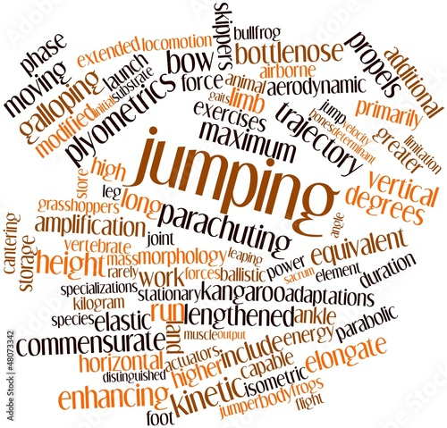 Word cloud for Jumping