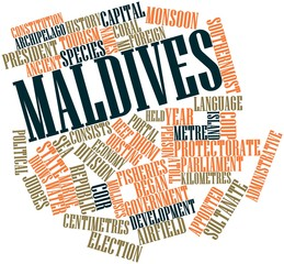 Word cloud for Maldives