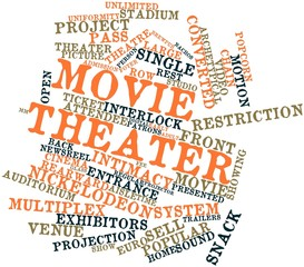 Word cloud for Movie theater