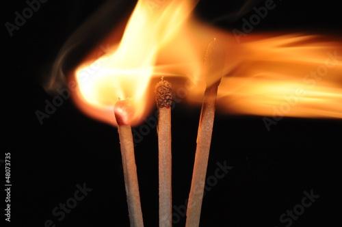 brennende Streichhölzer 2