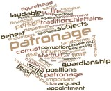 Word cloud for Patronage