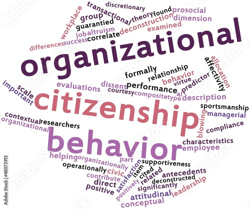 Word cloud for Organizational citizenship behavior