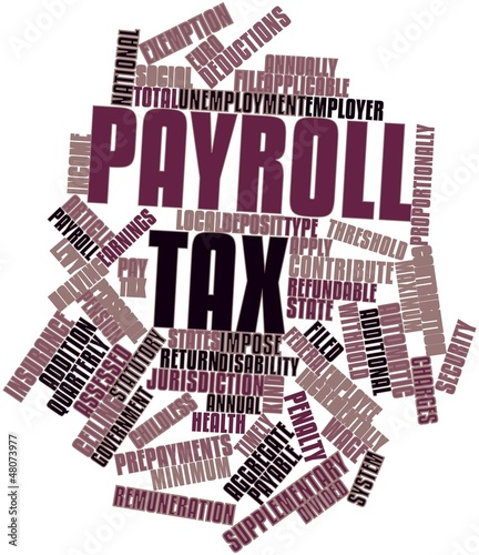 Word cloud for Payroll tax