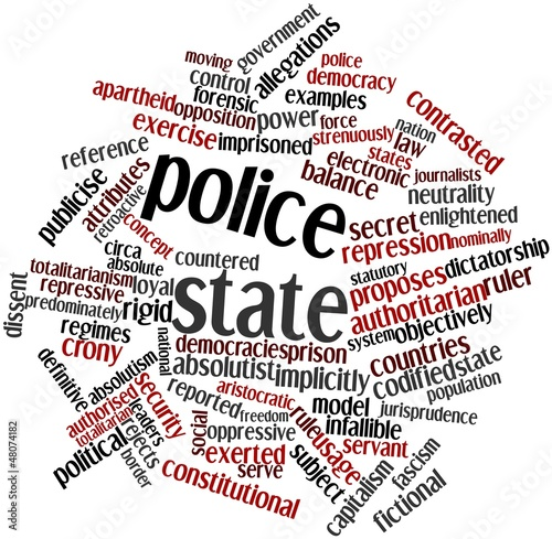Word cloud for Police state