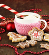 Cup of coffee with Christmas sweetness