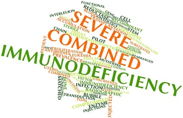 Word cloud for Severe combined immunodeficiency