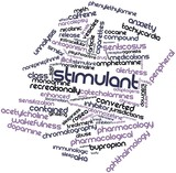 Word cloud for Stimulant poster