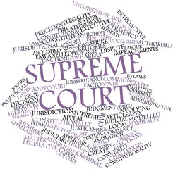 Word cloud for Supreme court