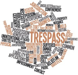 Word cloud for Trespass