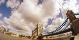 Powerful structure of Tower Bridge in London