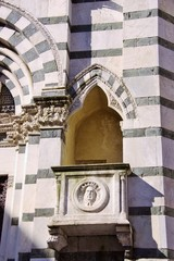 The historic baptistery in Pistoia in Italy