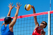 Beach volleyball tournament - attack and block