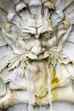 Water spitting gargoyle in Leopold Fountain, Innsbruck