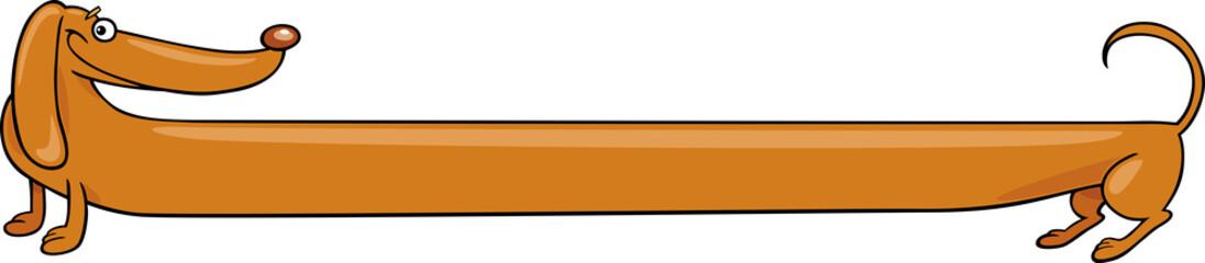 long dachshund dog cartoon illustration