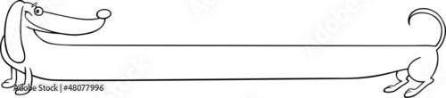 Fototapeta long dachshund dog cartoon for coloring