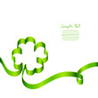 Card Green Cloverleaf