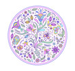 floral hand drawn colorful pattern