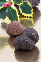 truffes noires en reflet
