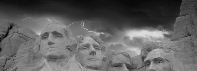 Dramatic Sky above Mount Rushmore National Memorial, South Dakot