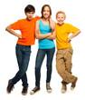 Happy teenage kids