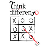 think different t-shirt design poster