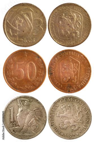 rare vintage coins of czechoslovakia