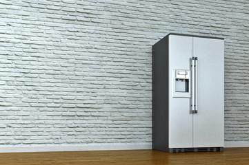 interior scene with refrigerator