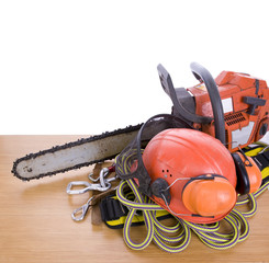 tree surgeon tools on desk