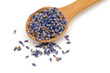 lavender petals in a wooden spoon