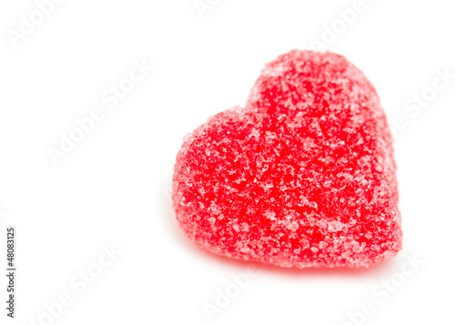 sugary heart shaped candy  and epty space for your text