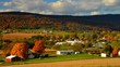 Timelapse of fall Amish countryside in rural Pennsylvania