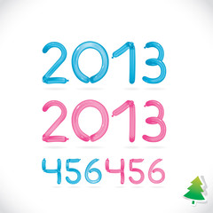 Balloon Happy New Year Date, Digits, Number, Sign, Symbol, Logo