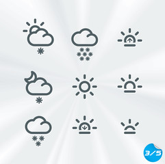 Weather Icons Collection, Button, Sign, Symbol, Logo