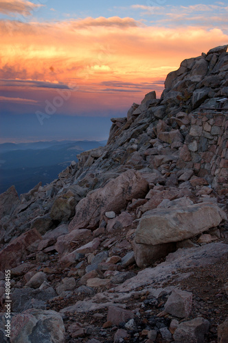 Sunset at Mount Evans, 1600 ft.