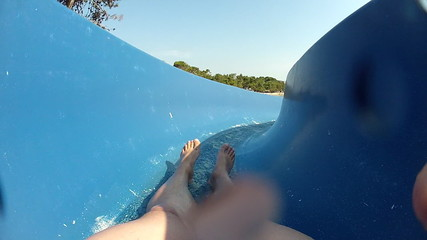 Fun on waterslide