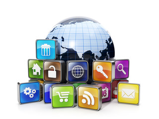 Download mobile OFFER from the Internet. Icons mobile applicatio