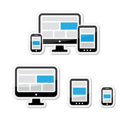 Responsive design for web - computer screen, smartphone, tablet