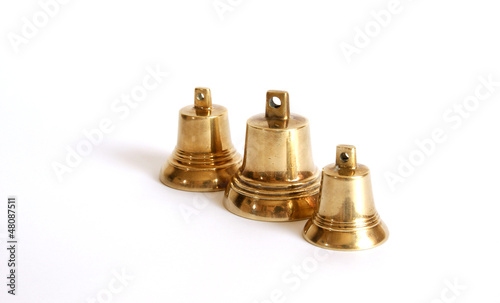 Small brass bells